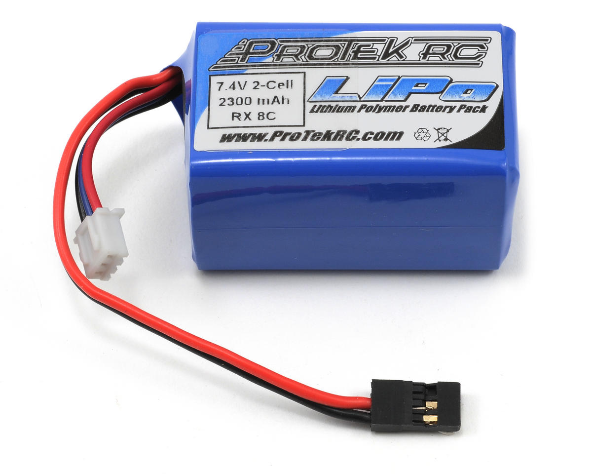 ProTek RC Li-Poly Hump Receiver Battery Pack (7.4V/2300mAh) (w/Balancer Plug)