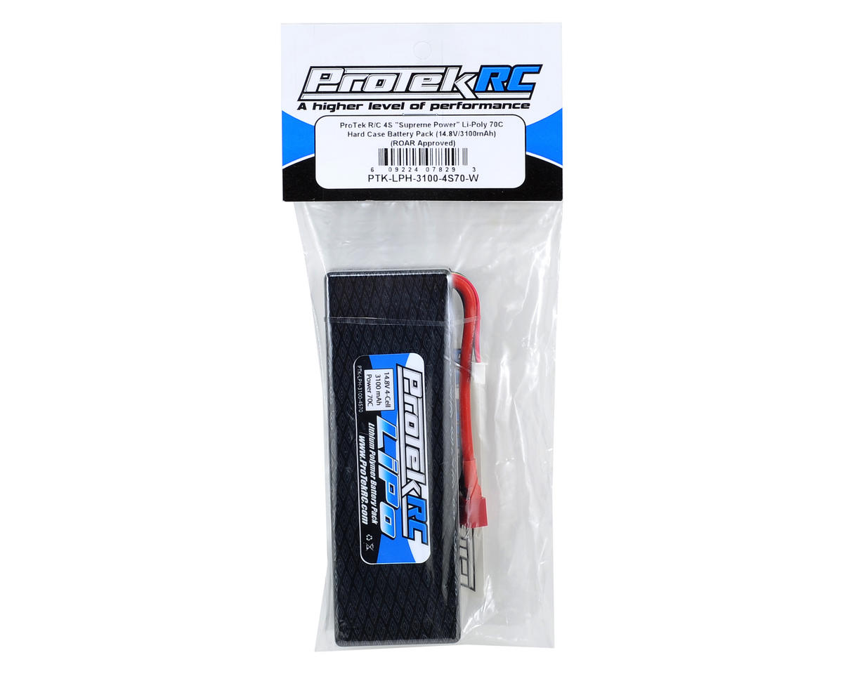 "ProTek RC 4S ""Supreme Power"" Li-Poly 70C Hard Case Battery Pack (14.8V/3100mAh) (ROAR Approved)"