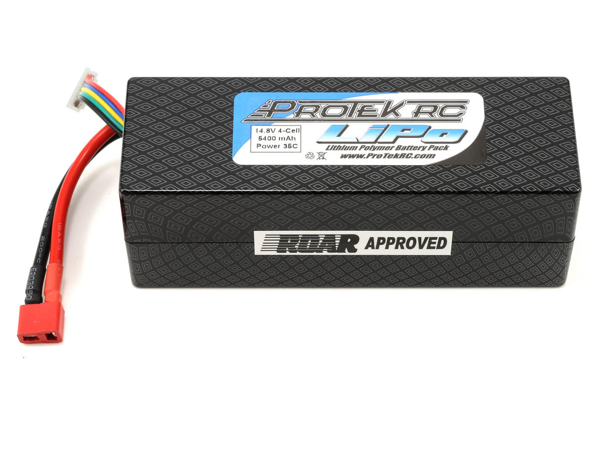 "ProTek RC 4S ""Supreme Power"" Li-Poly 35C Hard Case Battery Pack (14.8V/5400mAh) (ROAR Approved)"