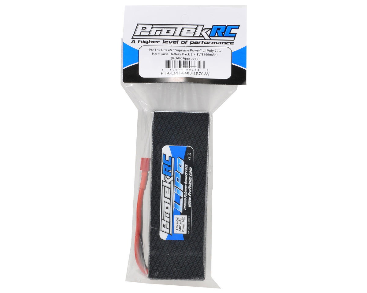 "ProTek RC 4S ""Supreme Power"" Li-Poly 70C Hard Case Battery Pack (14.8V/6400mAh) (ROAR Approved)"