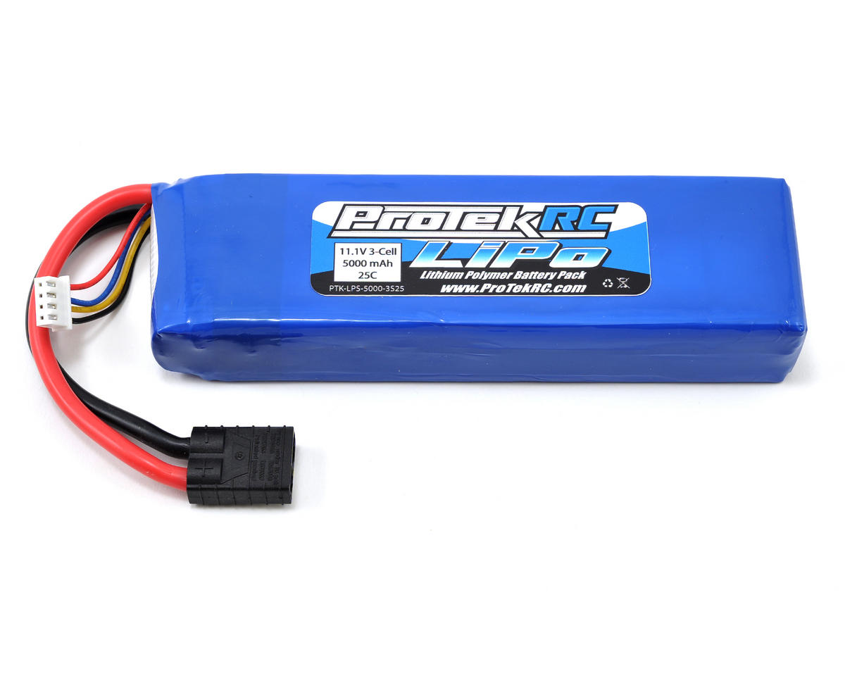 "ProTek RC 3S ""Sport Race"" Li-Poly 25C Battery Pack (11.1V/5000mAh w/TRX Connector)"