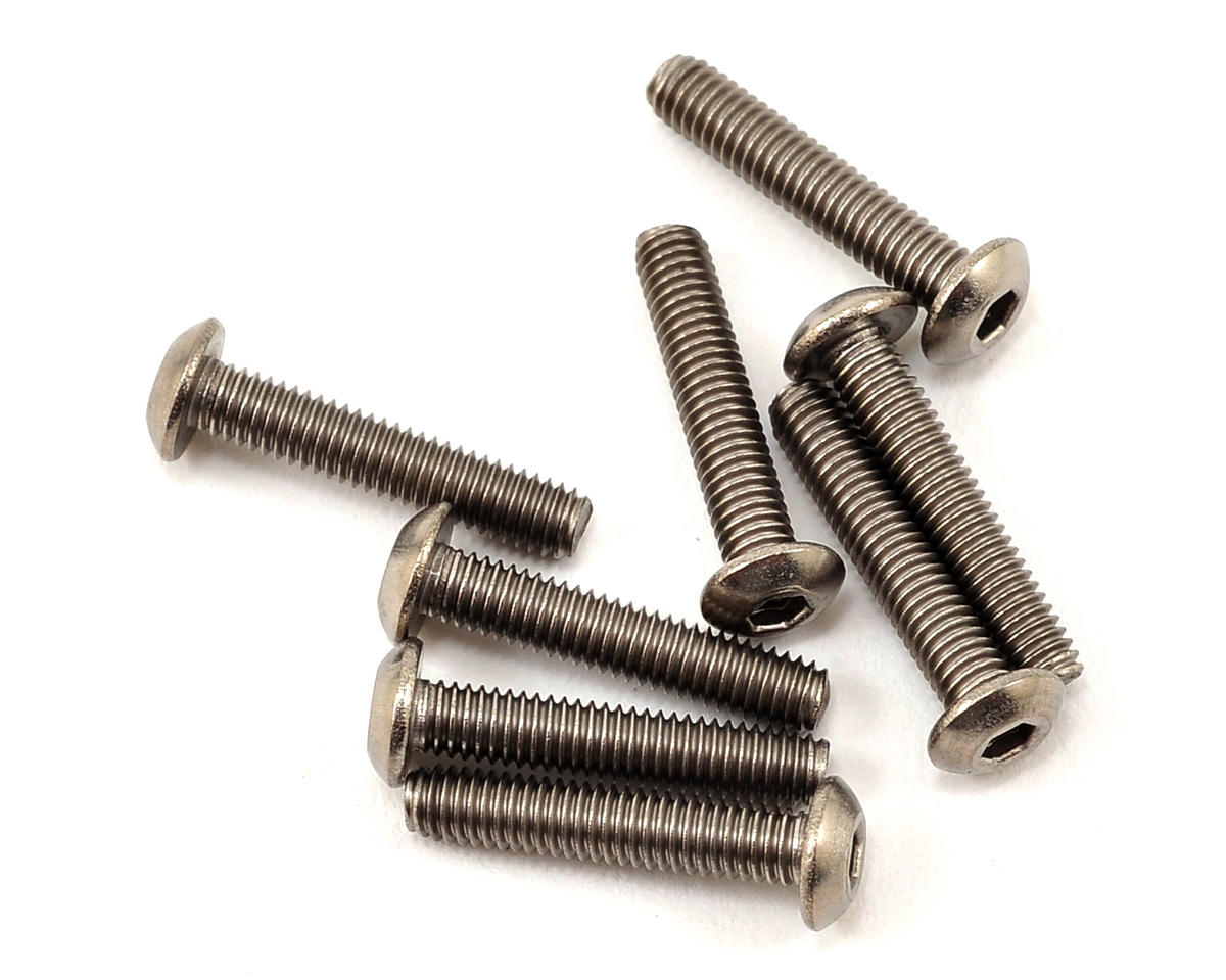 ProTek RC 3x15mm Titanium Button Head Hex Screw (8)