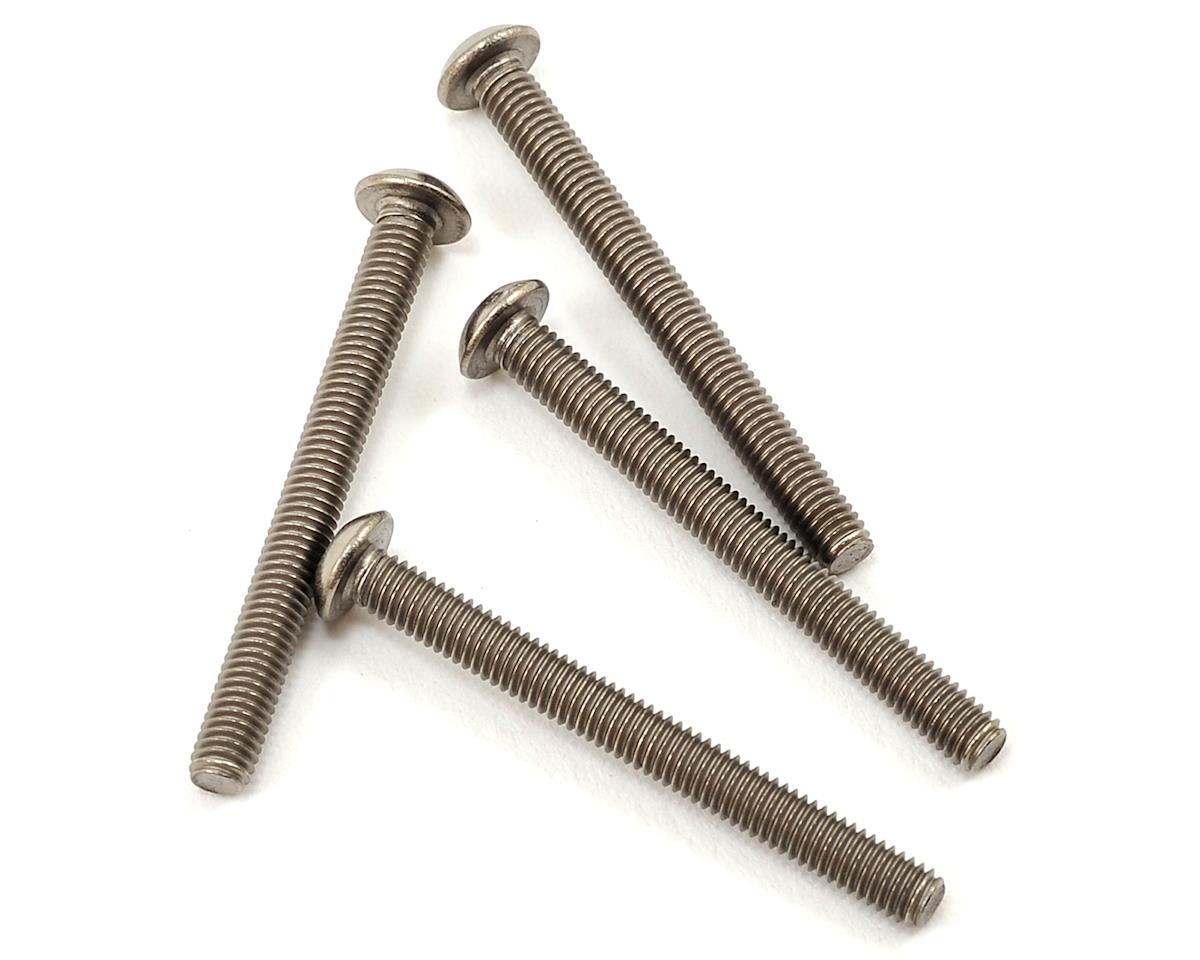 3x30mm Titanium Button Head Hex Screw (4) by ProTek RC