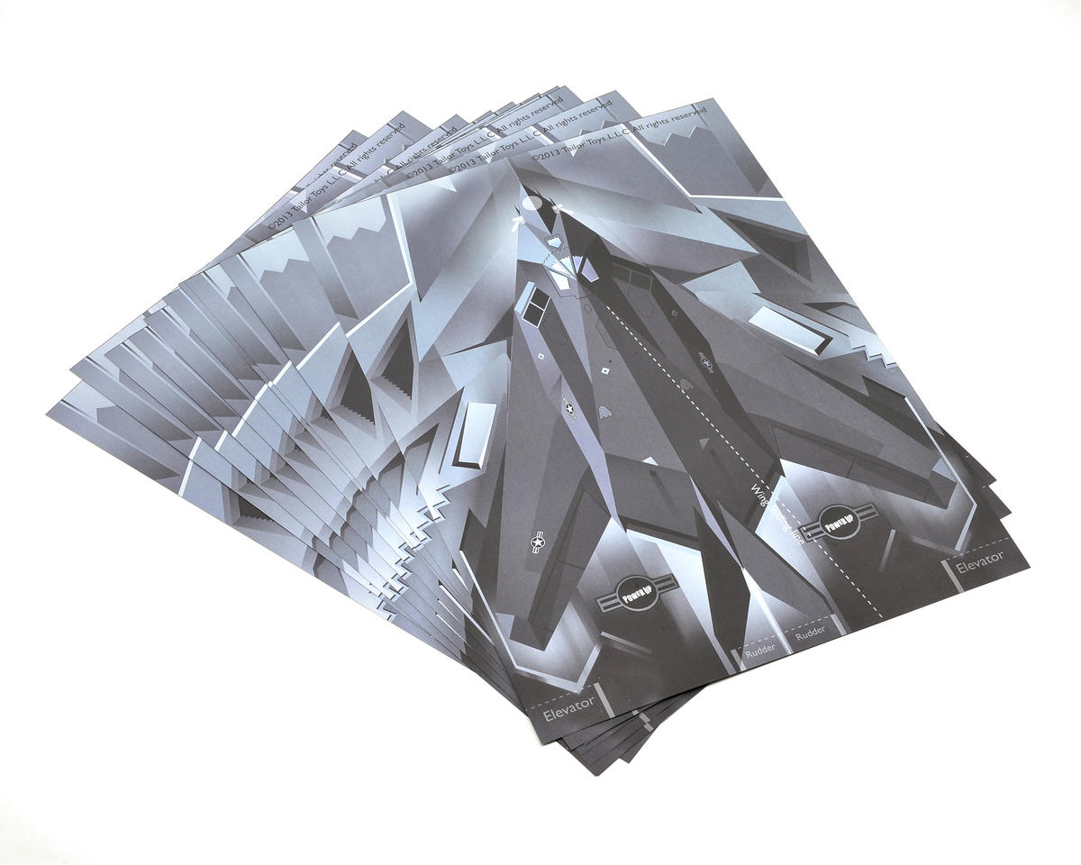 PowerUp Electric Paper Airplane Stealth Bomber Template Set (10)