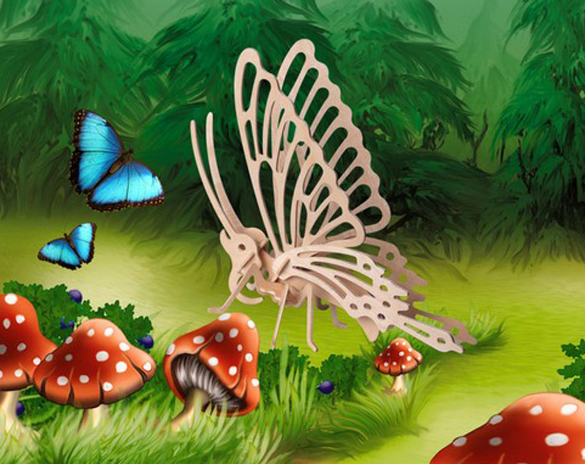 Puzzled Little Butterfly 3D Puzzle