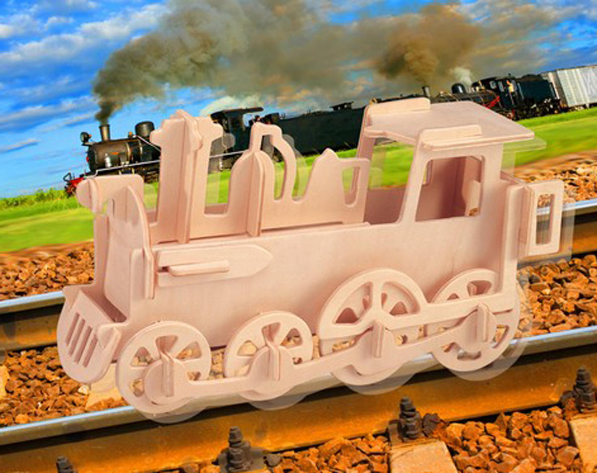 Puzzled Rolling Locomotive 3D Puzzle