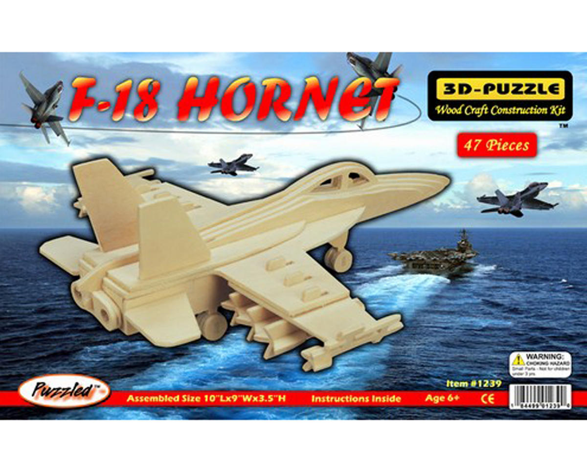 F-18 Hornet 3D Puzzle by Puzzled