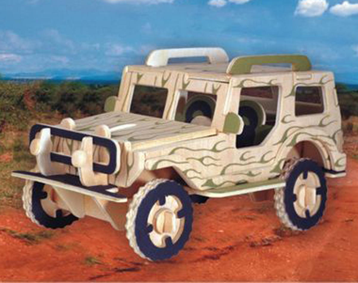 Puzzled Jeep 3D Puzzle
