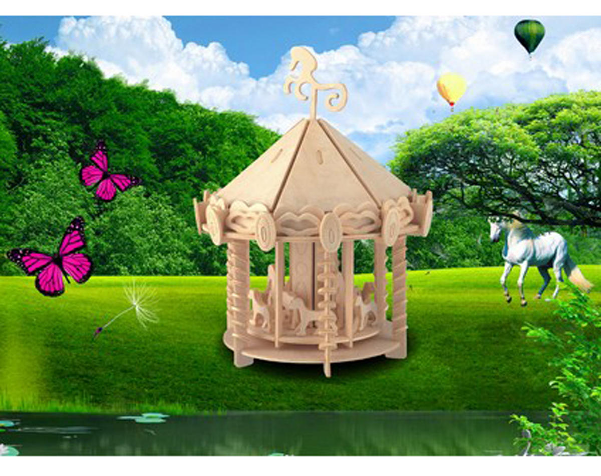 Carousel 3D Puzzle by Puzzled