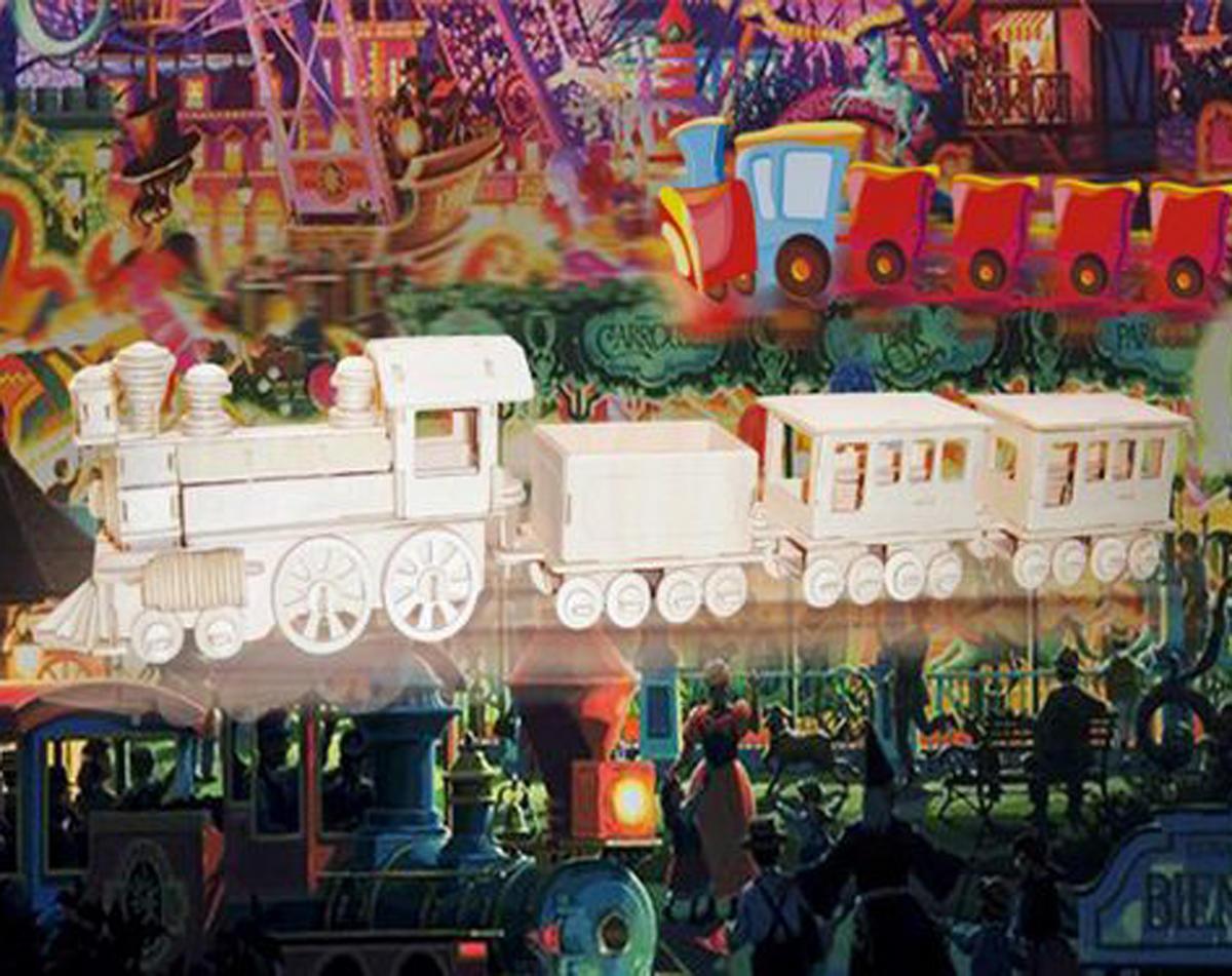Puzzled Train 3D Puzzle