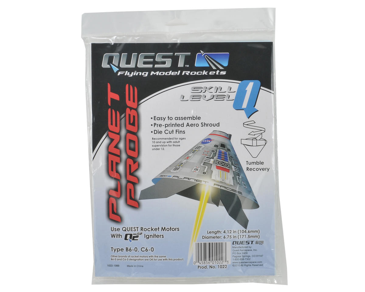Quest Aerospace Planet Probe Rocket Kit (Skill Level 1)