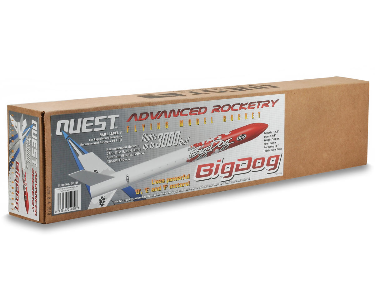 Big Dog Rocket Kit (Skill Level 3) by Quest Aerospace