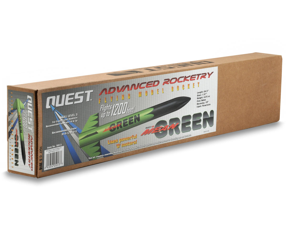 Quest Aerospace Mean Green Rocket Kit (Skill Level 3)