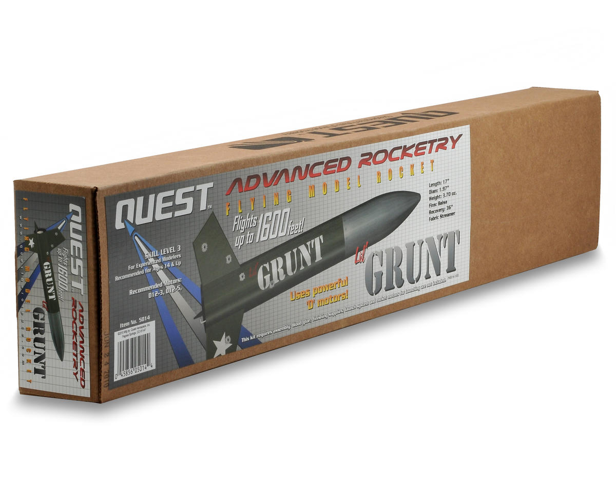 Quest Aerospace 'Lil Grunt Rocket Kit (Skill Level 3)