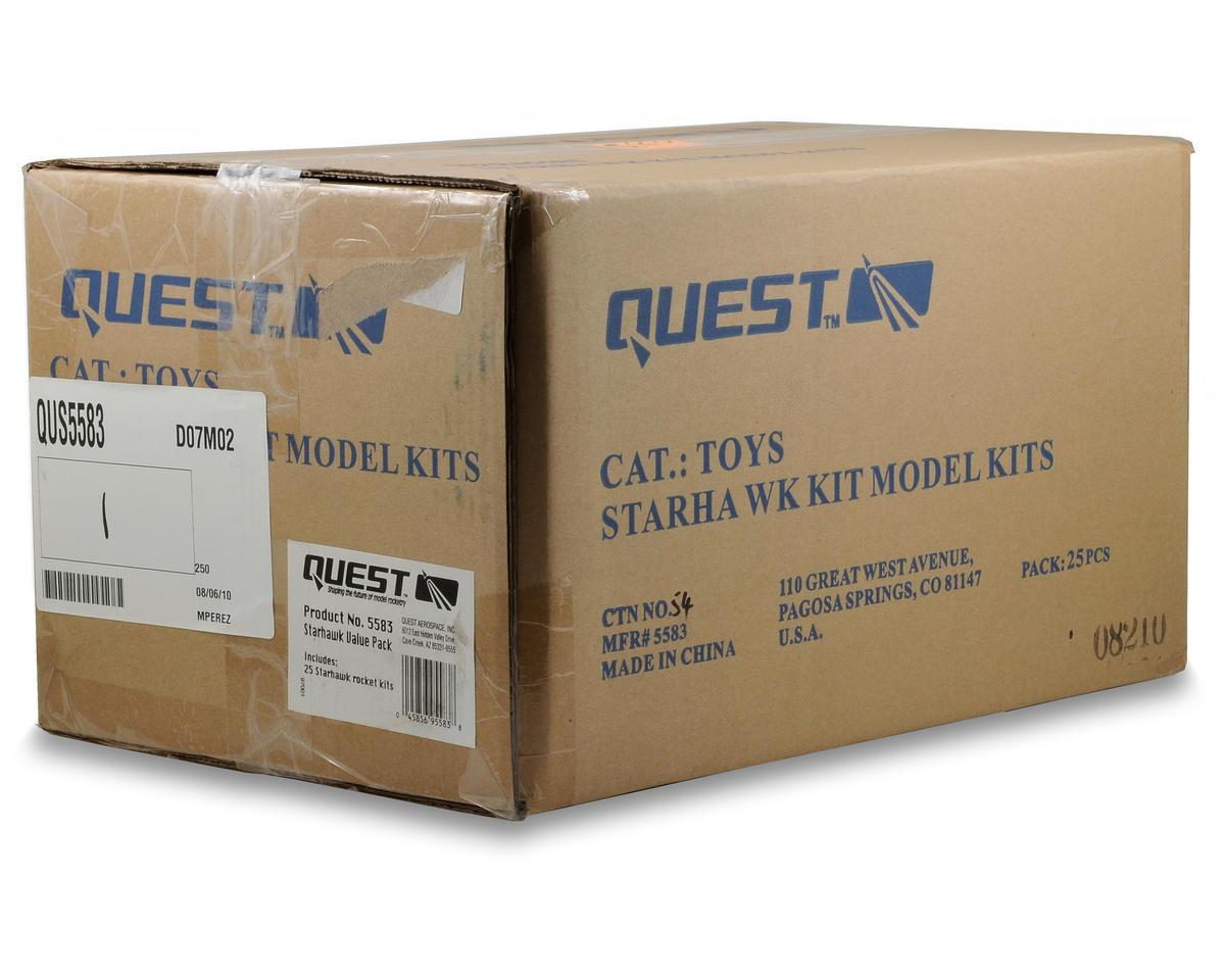 Quest Aerospace Starhawk Rocket Kit Value Pack (Skill Level 1) (25)