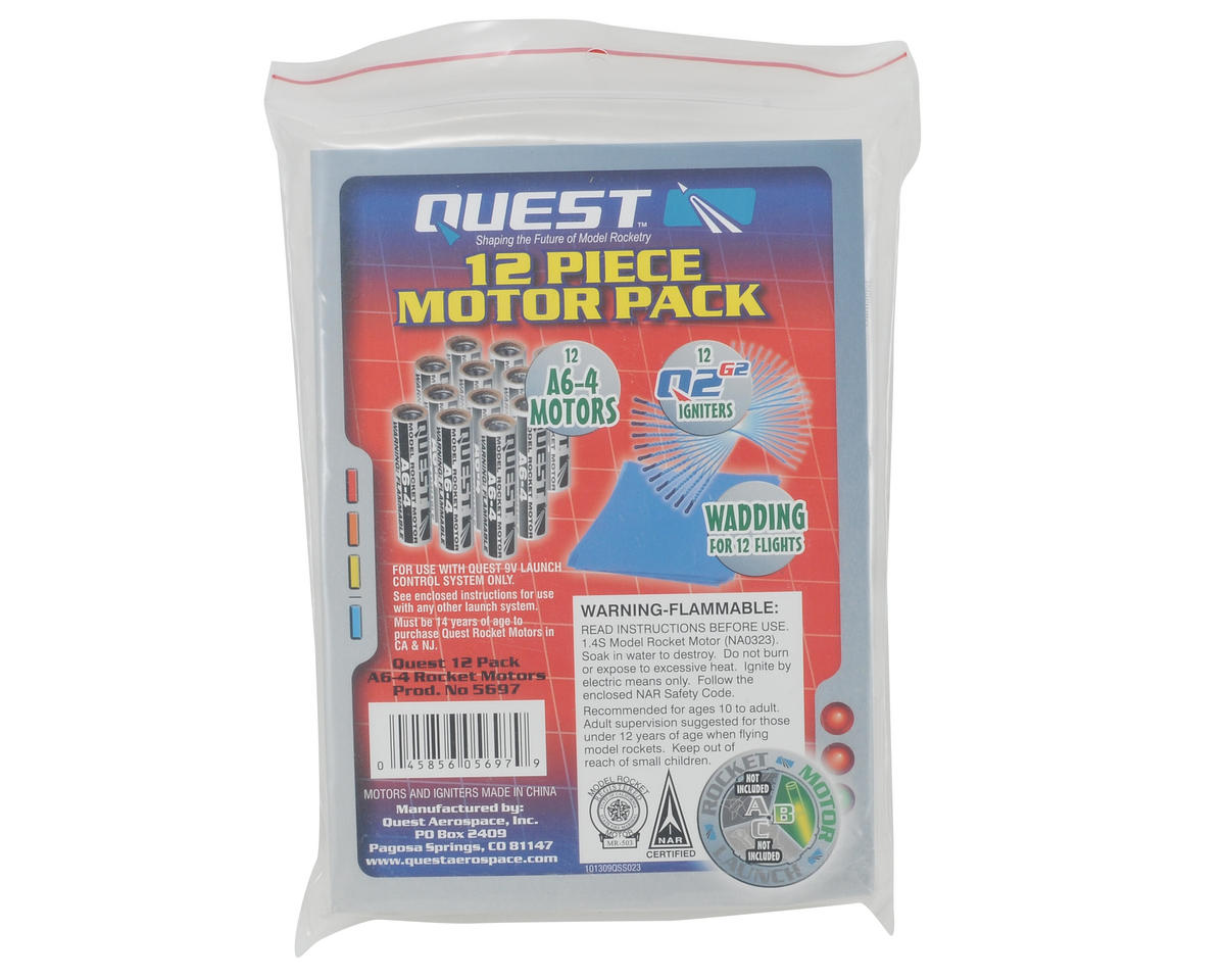 Quest Aerospace A6-4 Rocket Motor Value Package (12)