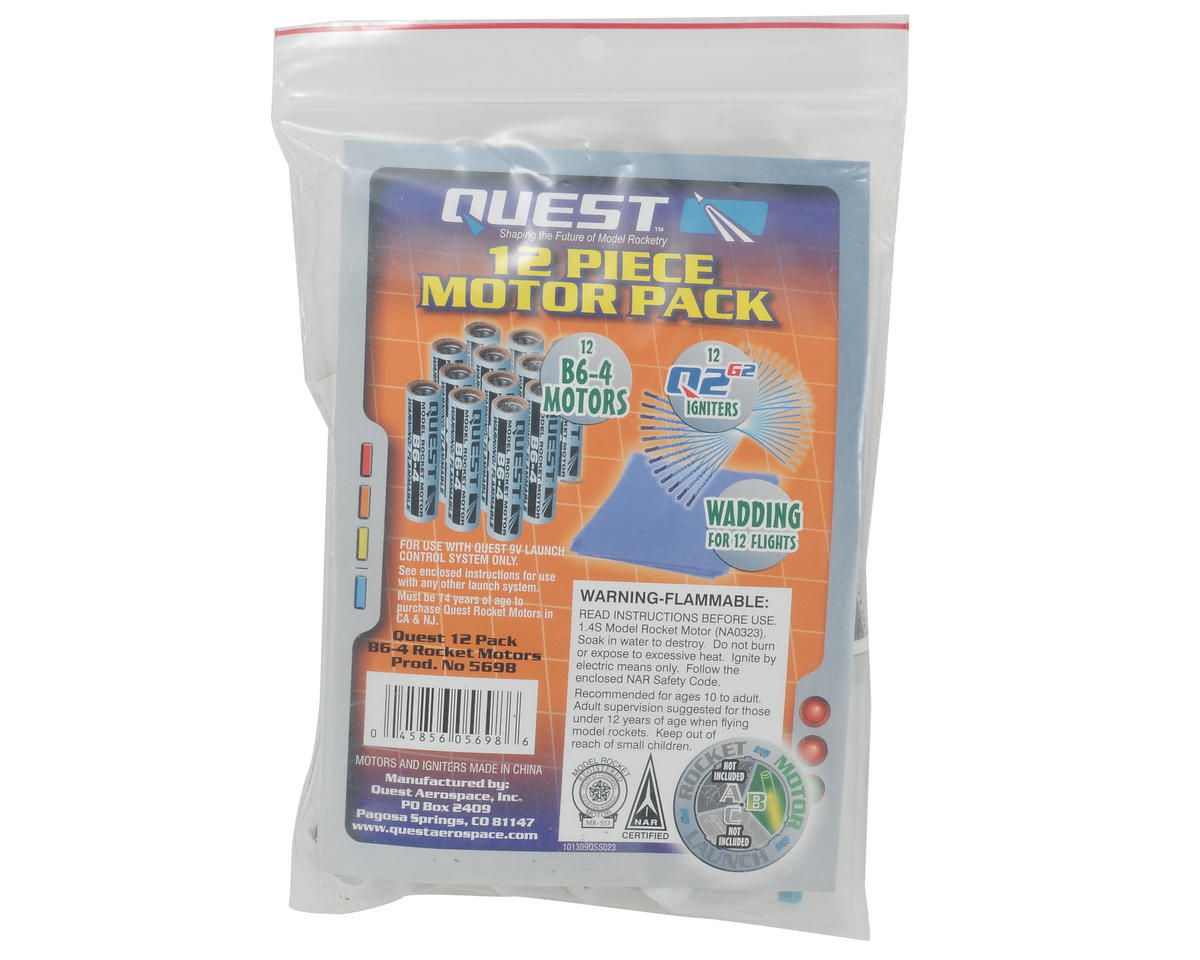 Quest Aerospace B6-4 Rocket Motor Value Package (12)