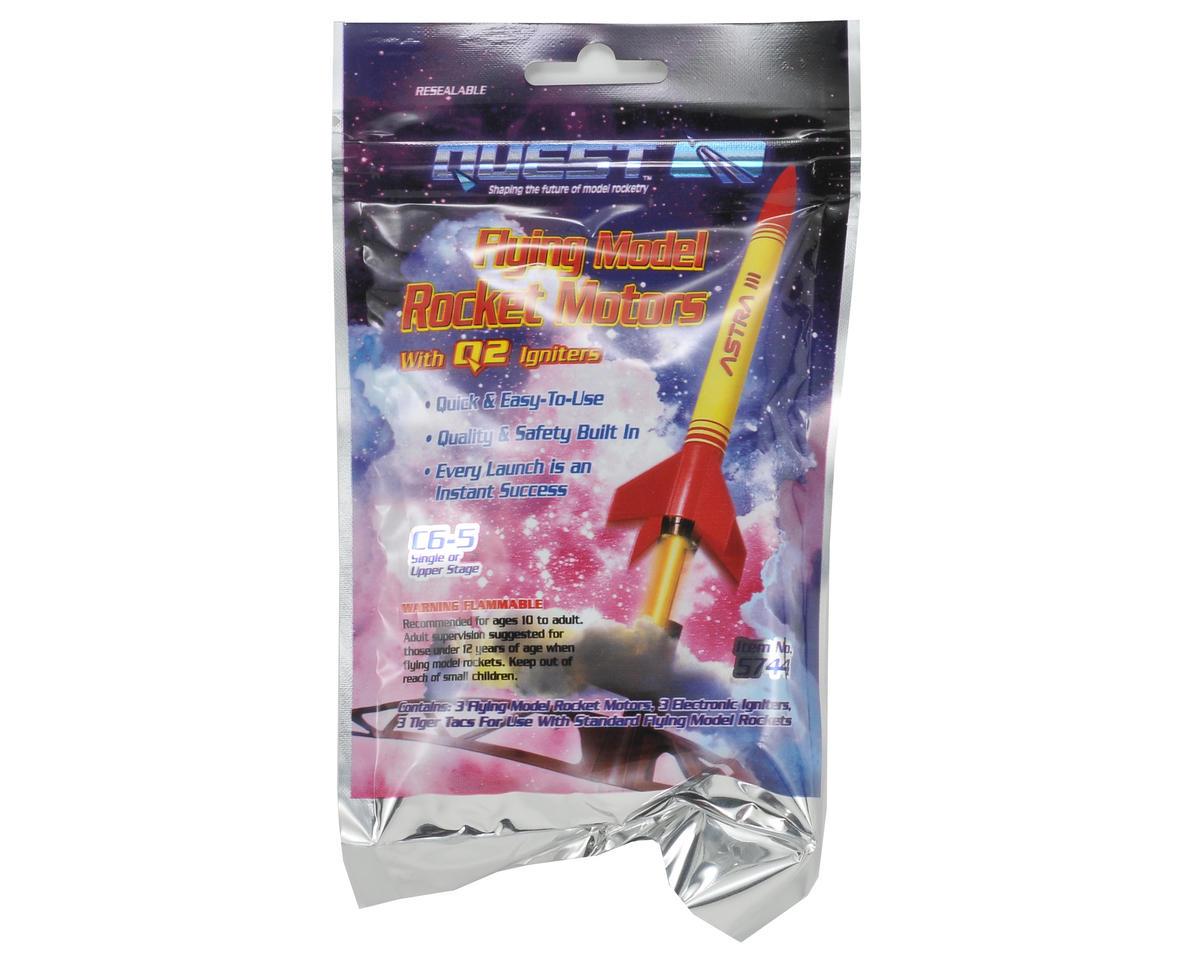 Quest Aerospace C6-5 Rocket Motor Flight Pack (3)