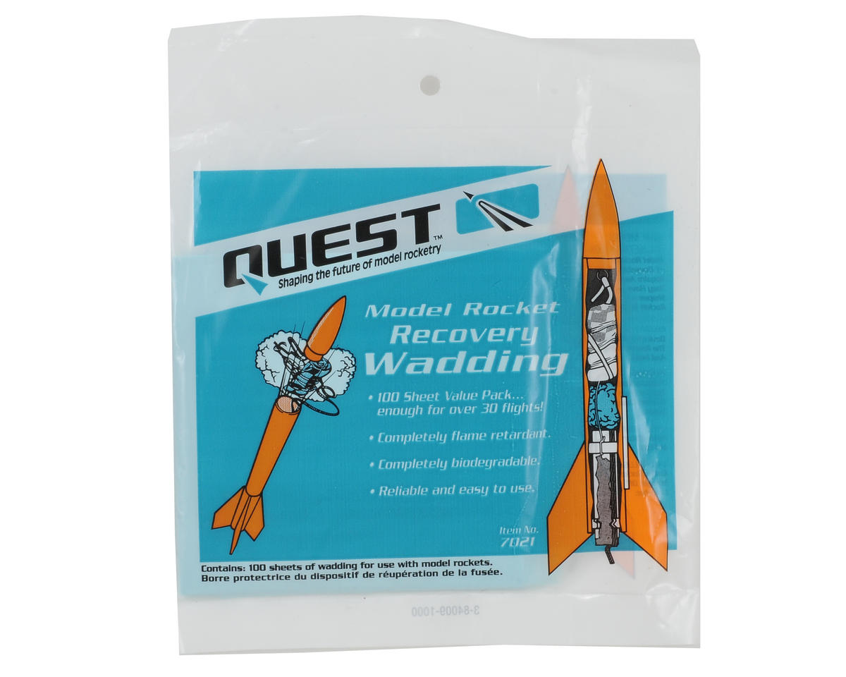Quest Aerospace Recovery Wadding Pack (100 Sheets)
