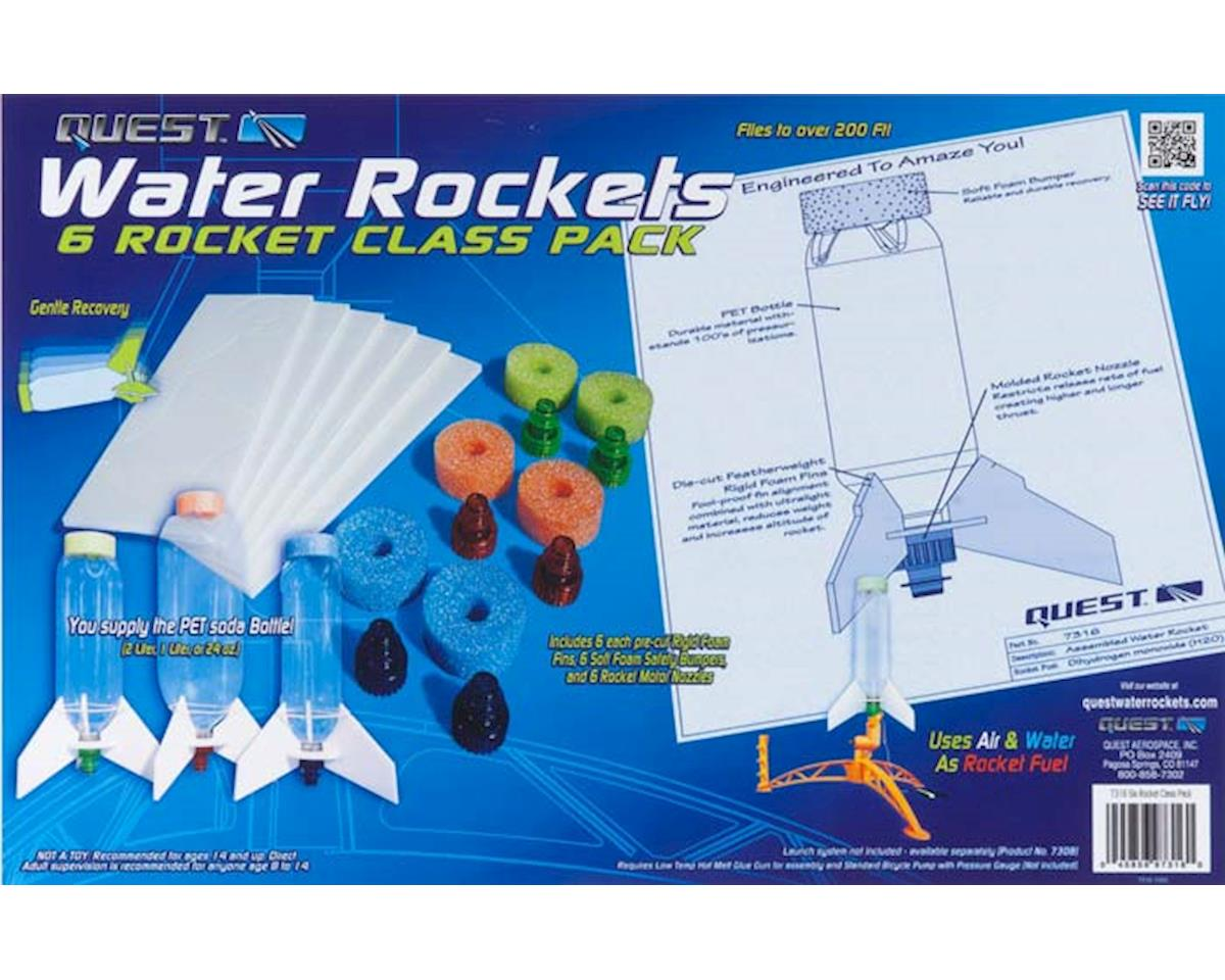 Quest Aerospace 7316 6 Piece Water Rocket Class Pack