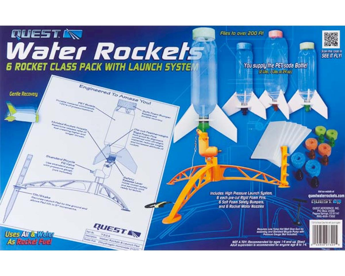 Quest Aerospace 7324 All-Inclusive 6 Water Rocket Class Pack