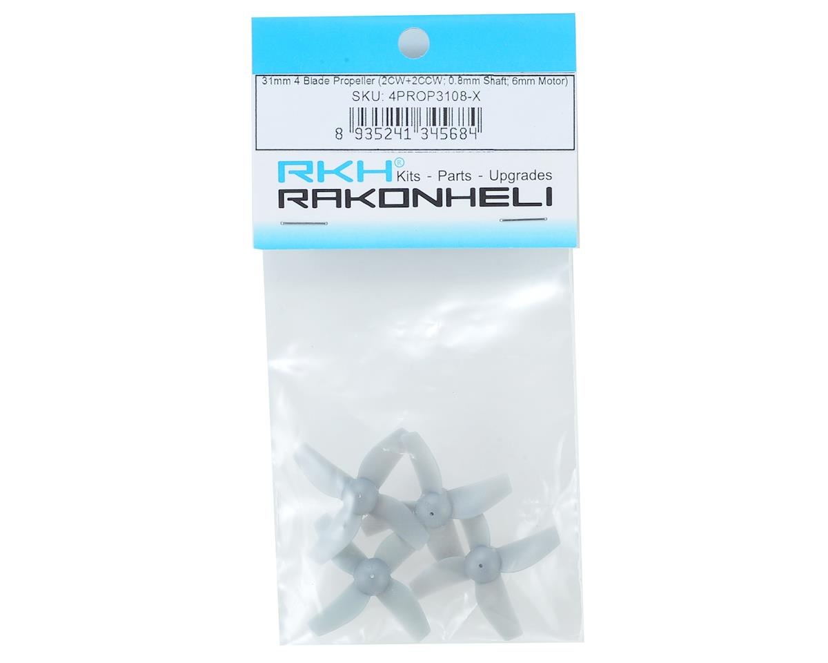 Rakon 31mm 4 Blade Propeller (Grey) (4)