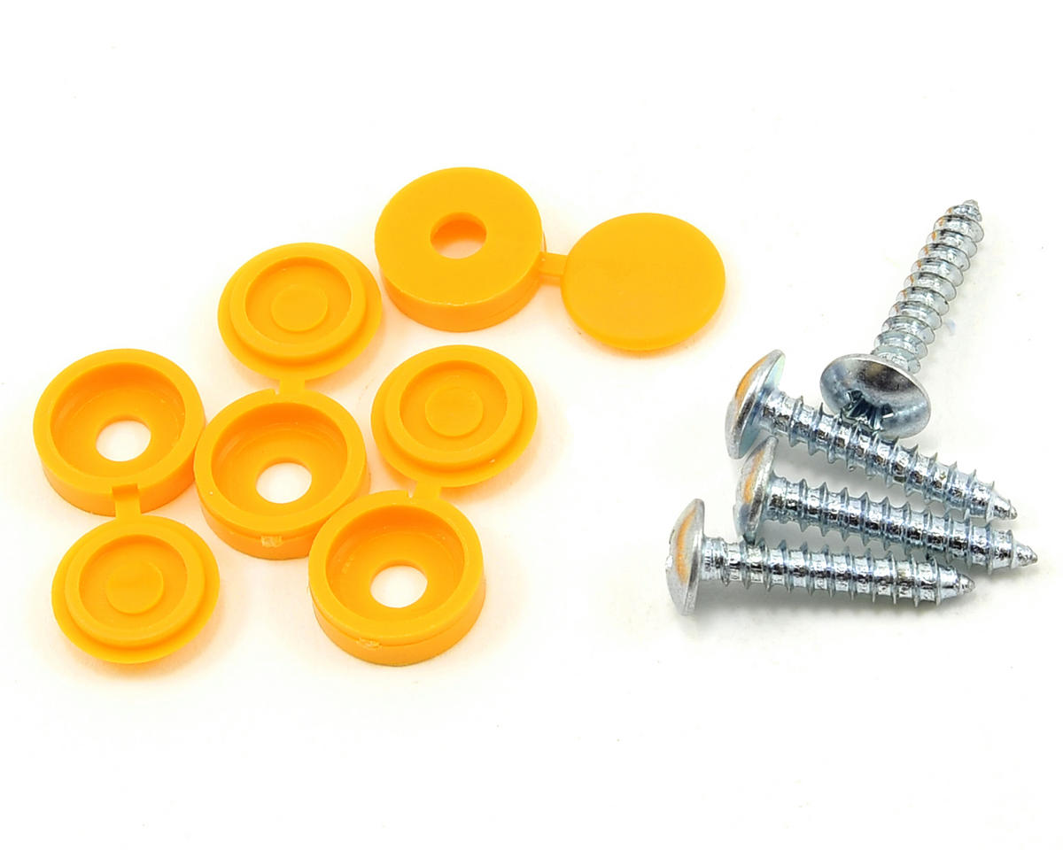 Random Heli STC5565 Mounting Screws w/Covers (Yellow)