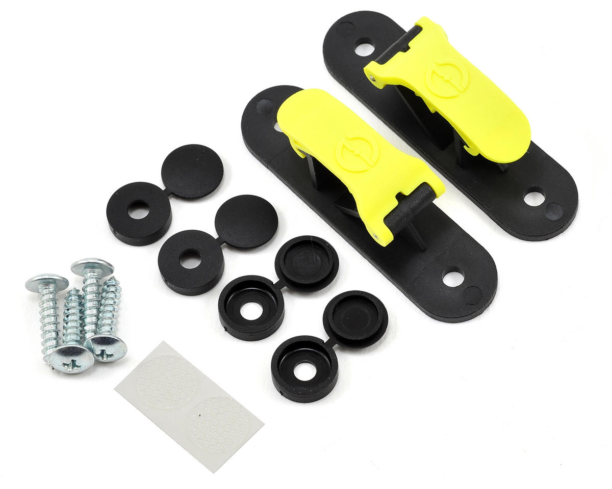 Random Heli Goblin 500 Skid Clamp Assembly (Yellow)