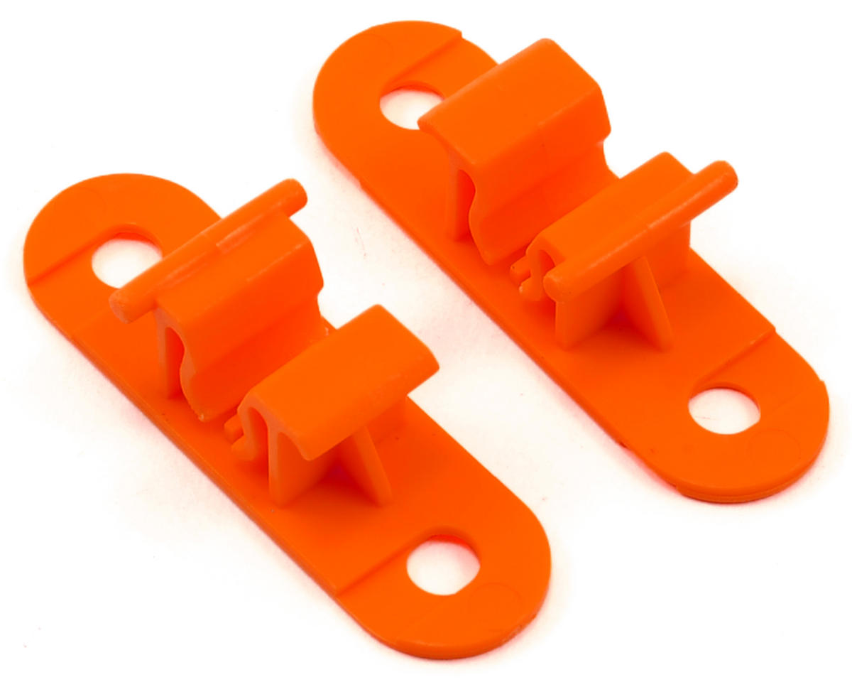 Random Heli 5.5mm-6.5mm Skid Clamp Base (Orange) (2)