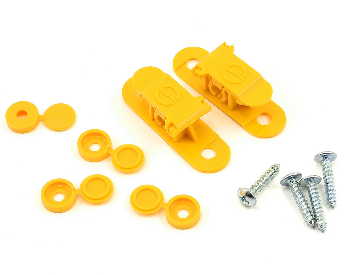 Random Heli 5.5mm-6.5mm Skid Clamp Assembly (Yellow)