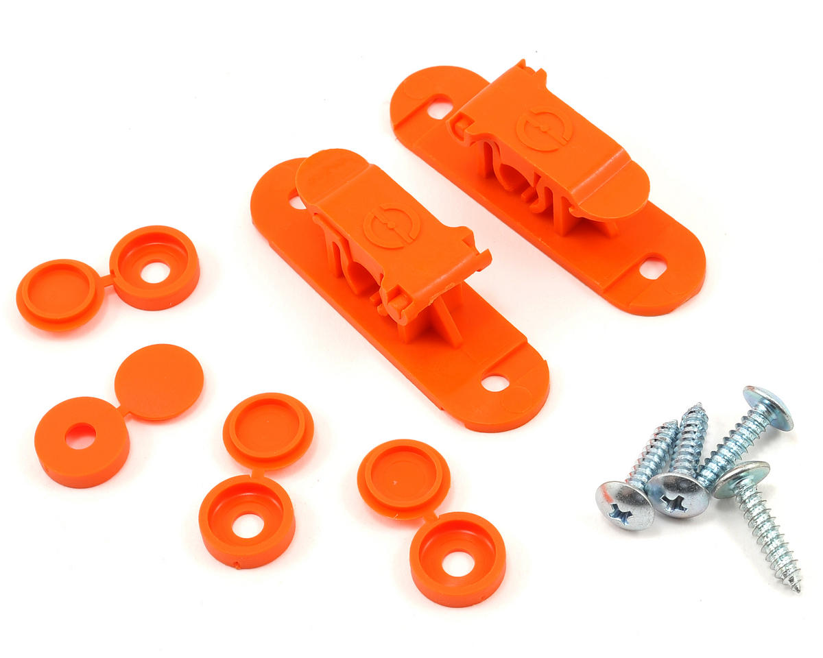 Random Heli 8.0mm Skid Clamp Assembly (Orange)