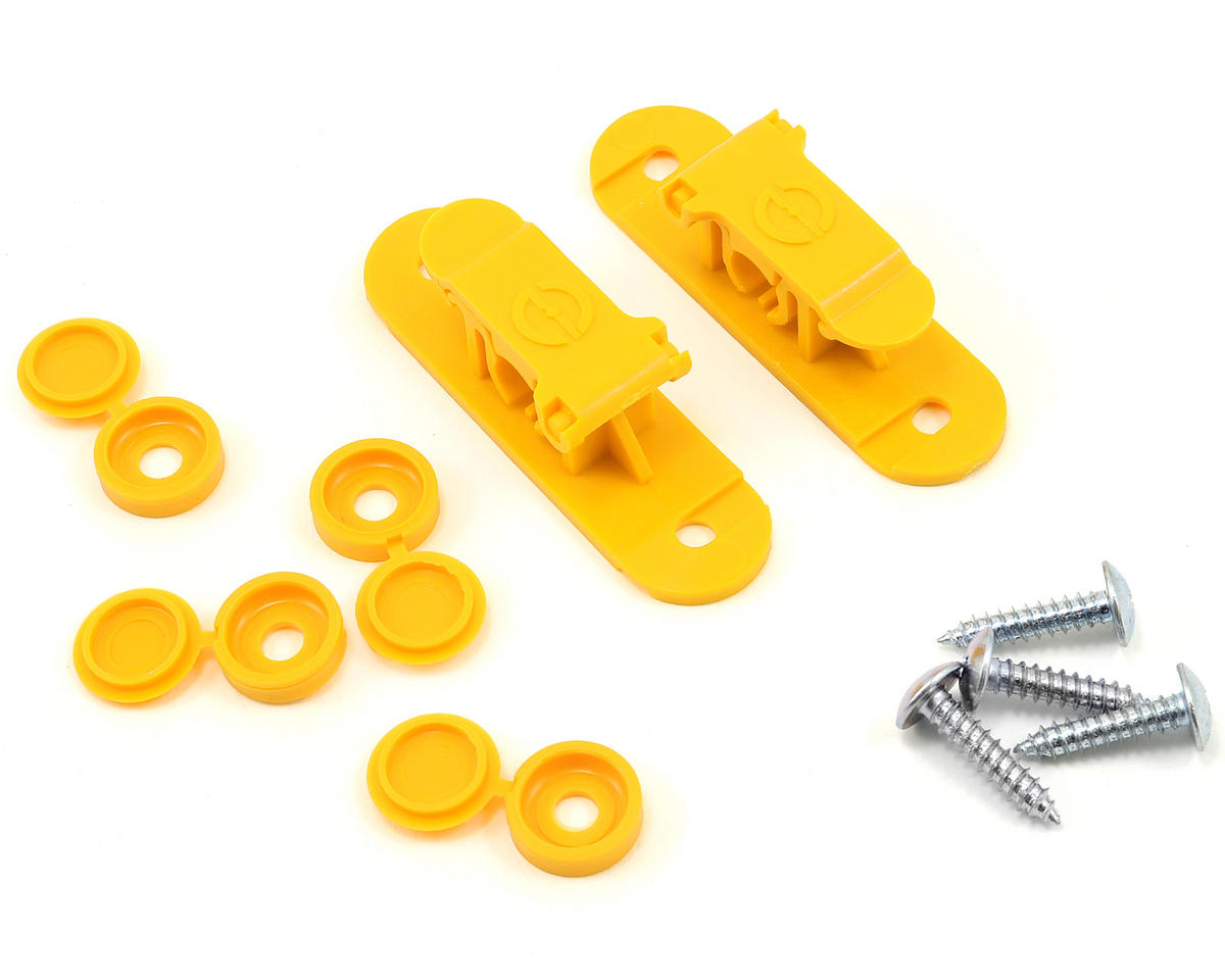 Random Heli 9.0mm Skid Clamp Assembly (Yellow)