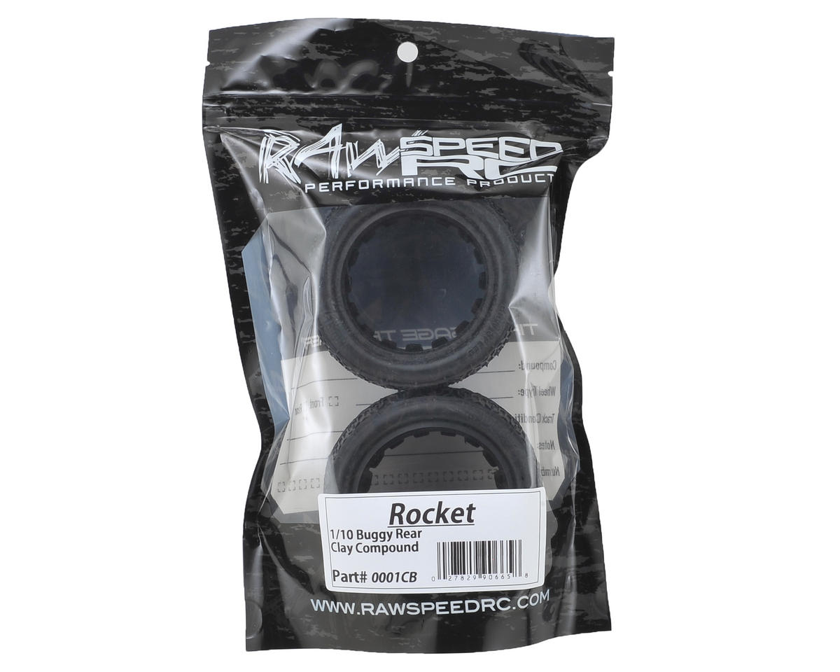 "Raw Speed RC Rocket 2.2"" 1/10 Rear Buggy Tires (2) (Clay)"