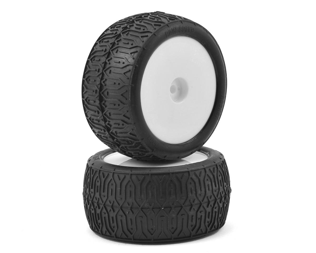 "Raw Speed RC Rocket 2.2"" 1/10 Rear Buggy Pre-Mounted Tires (2) (White)"