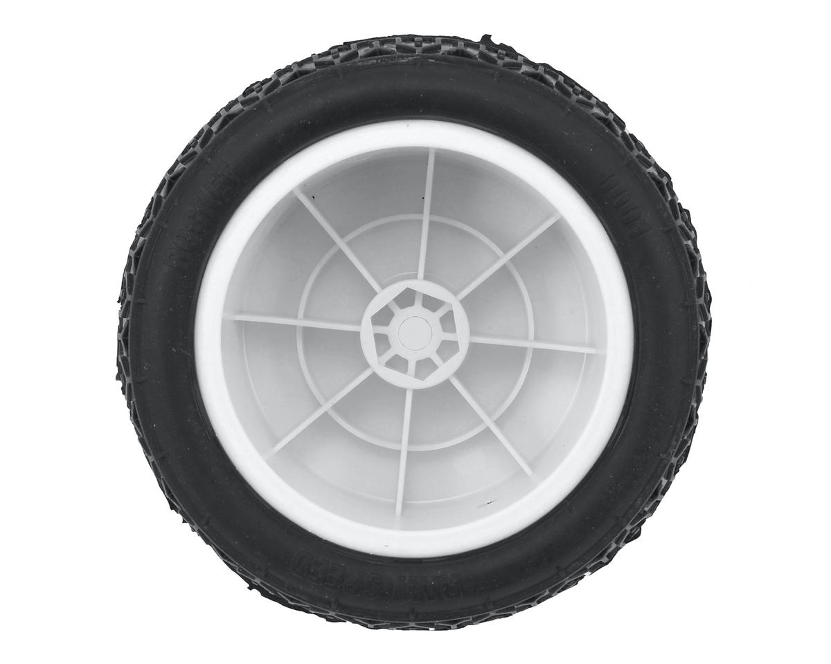 """Rocket 2.2"""" 1/10 Rear Buggy Pre-Mounted Tires (2) (White) (Clay) by Raw Speed RC"""