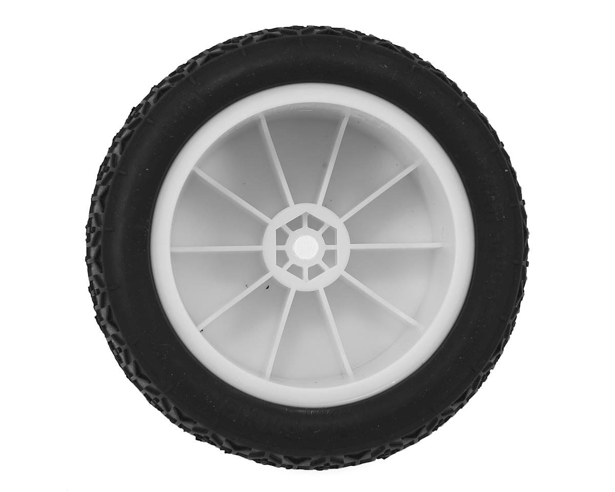 "Raw Speed RC Rocket 2.2"" 1/10 Rear Buggy Pre-Mounted Tires (2) (White) (Losi) (Clay)"