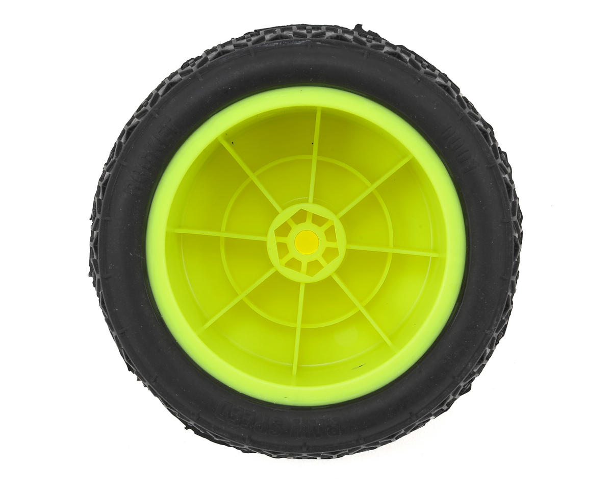 "Raw Speed RC Rocket 2.2"" 1/10 Rear Buggy Pre-Mounted Tires (2) (Yellow) (Clay)"