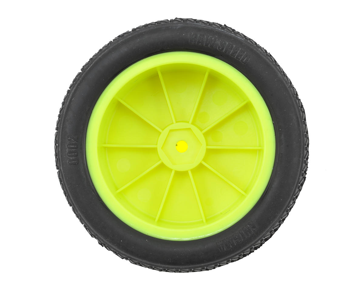 "Raw Speed RC Enigma 2.2"" 1/10 2WD Front Pre-Mounted Tires (Yellow) (2) (Clay)"