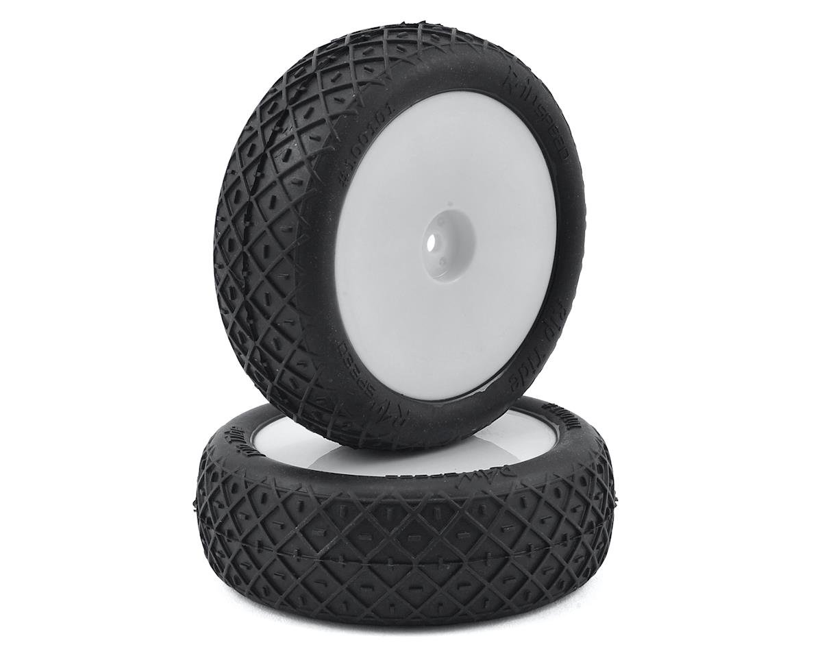 "Raw Speed RC ""Rip Tide"" 2.2"" 1/10 2WD Front Pre-Mounted Tire (White) (2) (Serpent Spyder SRX-2 MM)"