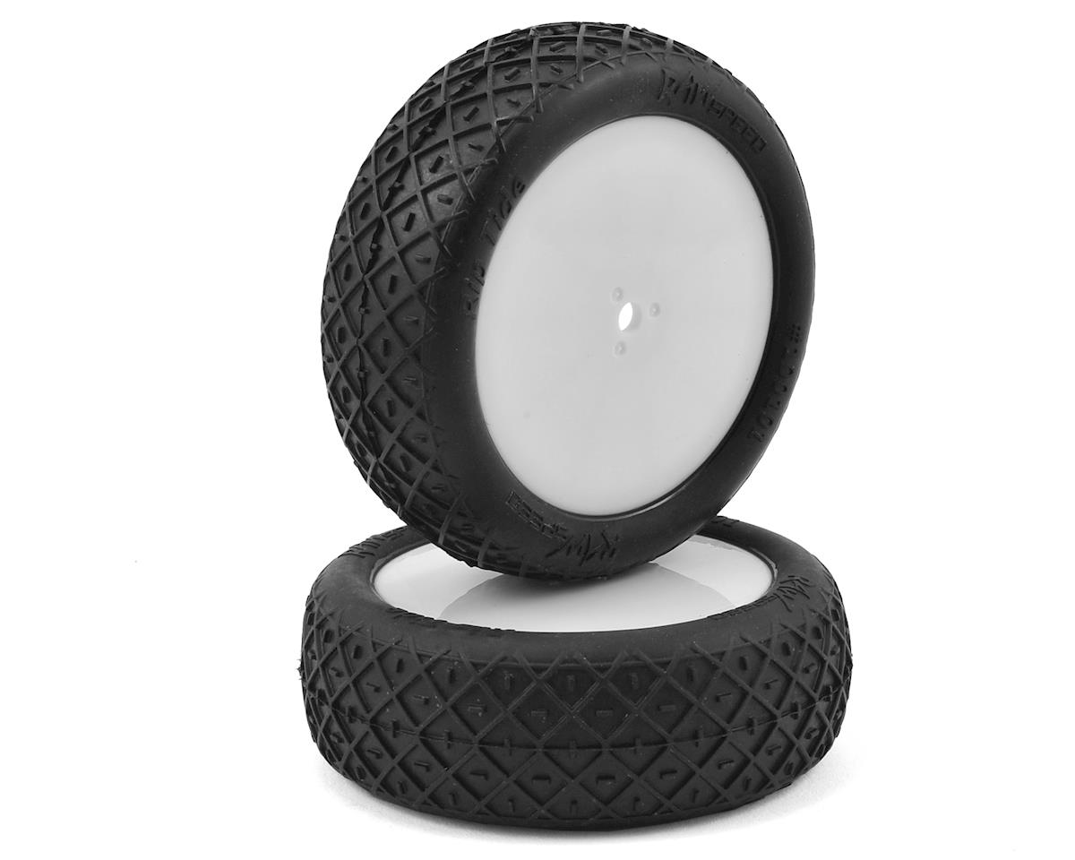 """Rip Tide"" 2.2"" 1/10 2WD Front Pre-Mounted Tire (White) (2) (Clay) by Raw Speed RC"