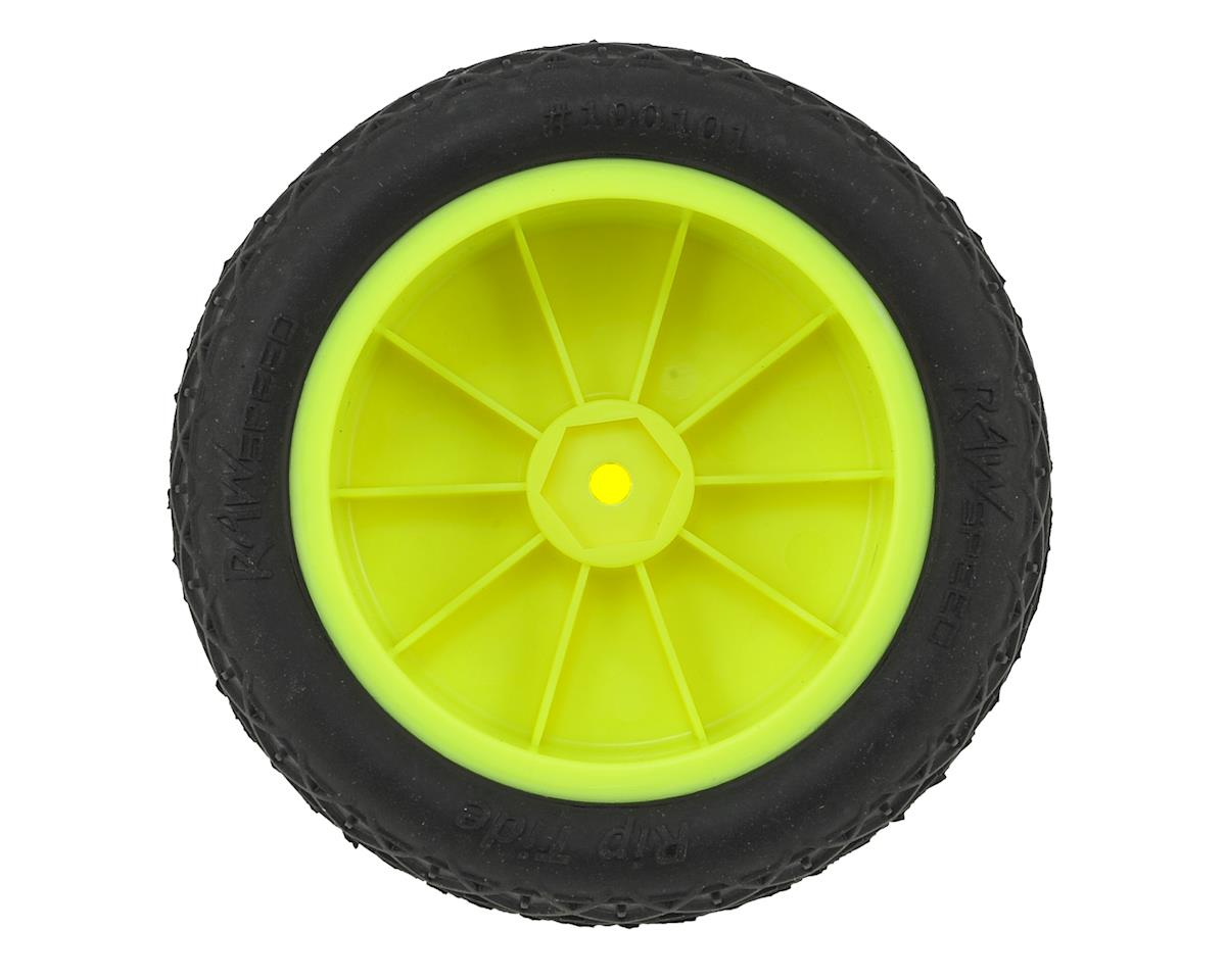 "Raw Speed RC ""Rip Tide"" 2.2"" 1/10 2WD Front Pre-Mounted Tire (Yellow) (2) (Clay)"