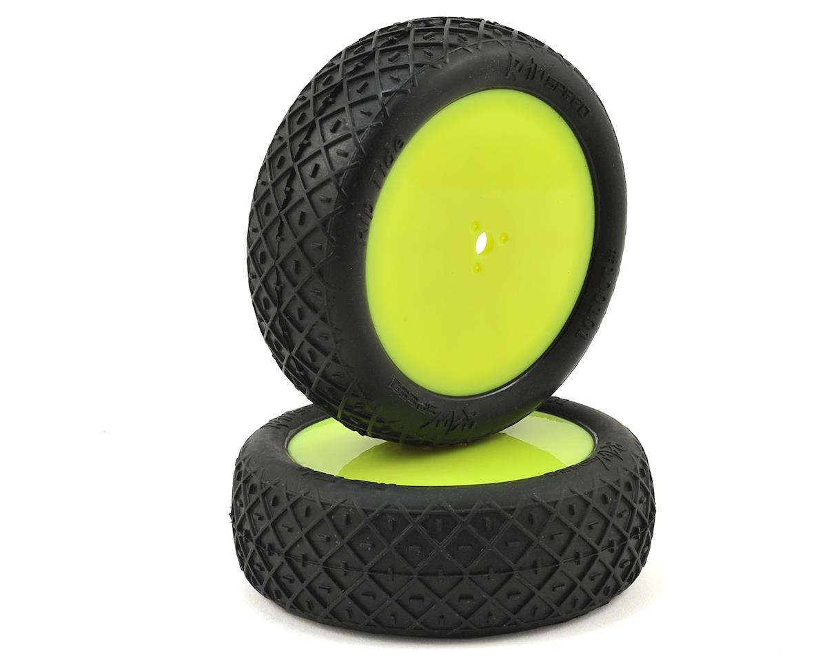 "Raw Speed RC Rip Tide 2.2"" 1/10 2WD Front Pre-Mounted Tire (Yellow) (2) (Clay)"