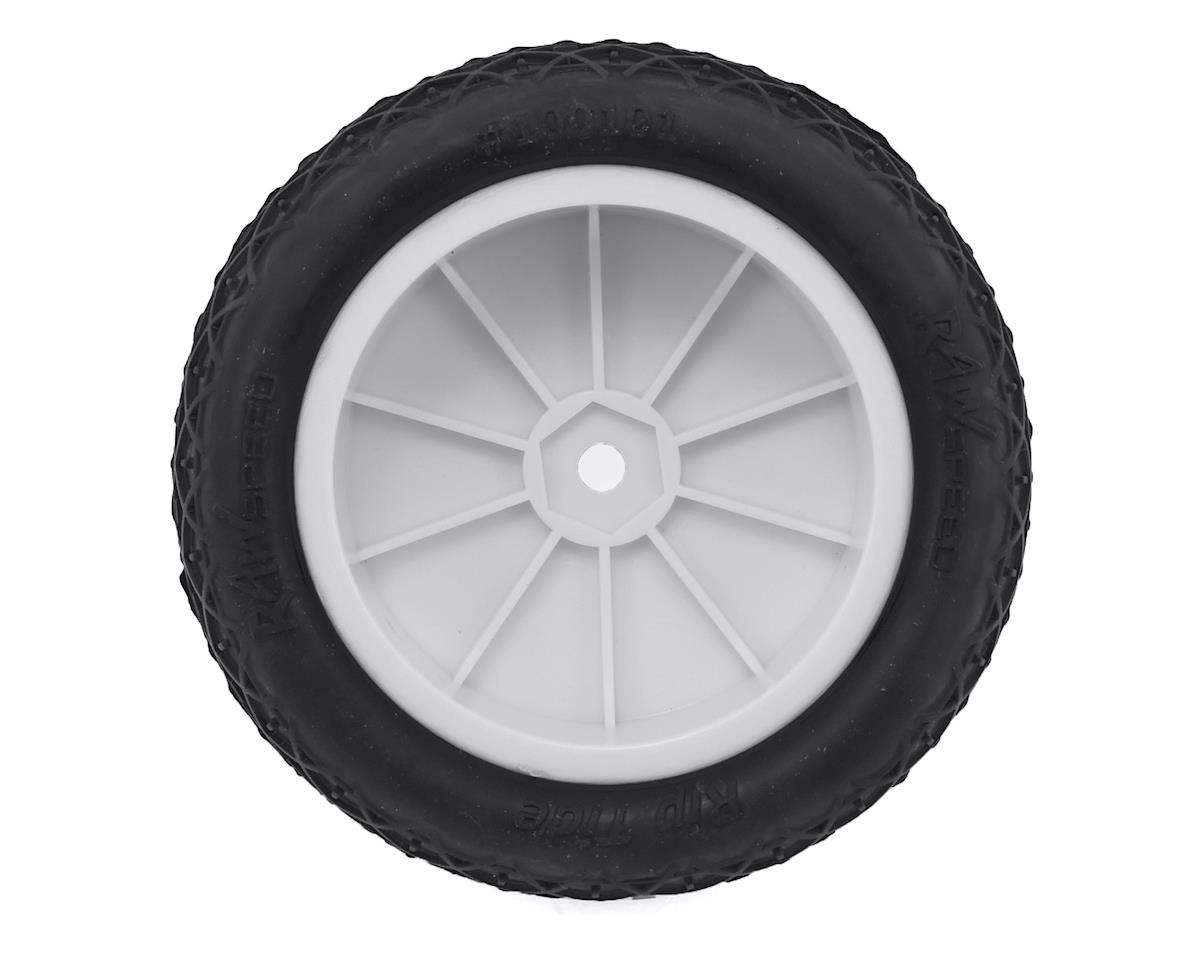 """Raw Speed RC """"Rip Tide"""" 2.2"""" 1/10 2WD Front Pre-Mounted Tire (White) (2) (Super Soft)"""