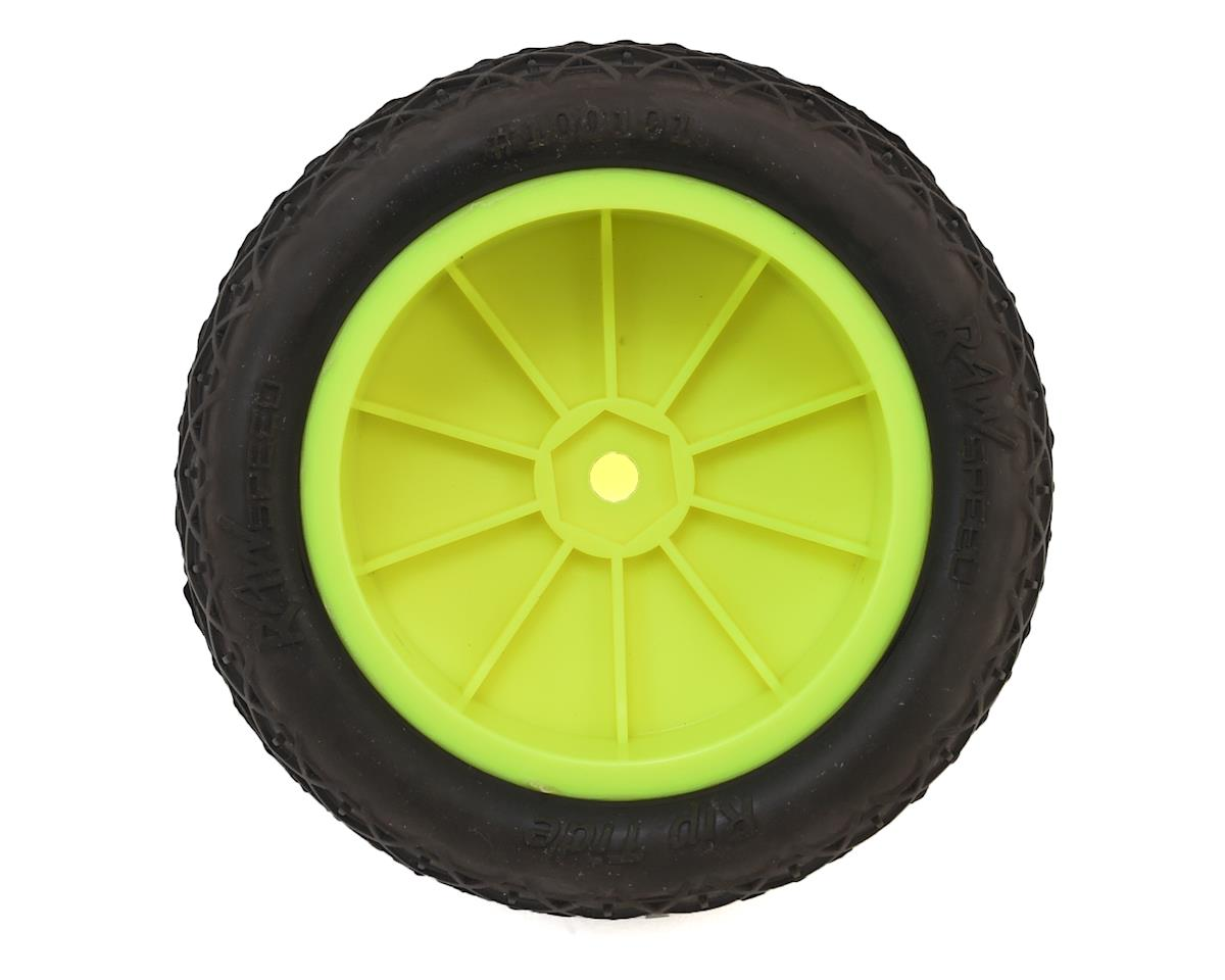 "Raw Speed RC Rip Tide 2.2"" 1/10 2WD Front Pre-Mounted Tire (Yellow) (2) (Super Soft)"