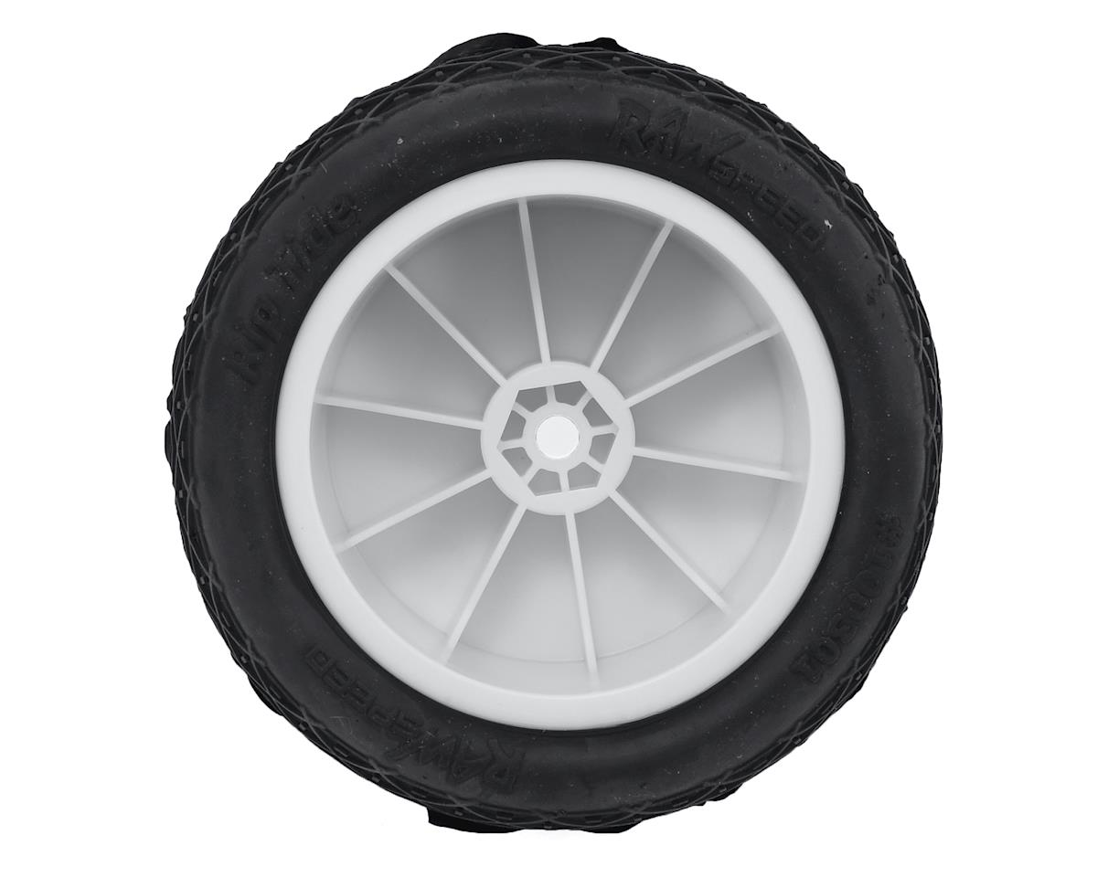 """Raw Speed RC """"Rip Tide"""" 2.2"""" 1/10 Rear Buggy Pre-Mounted Tire (2) (White) (Super Soft)"""