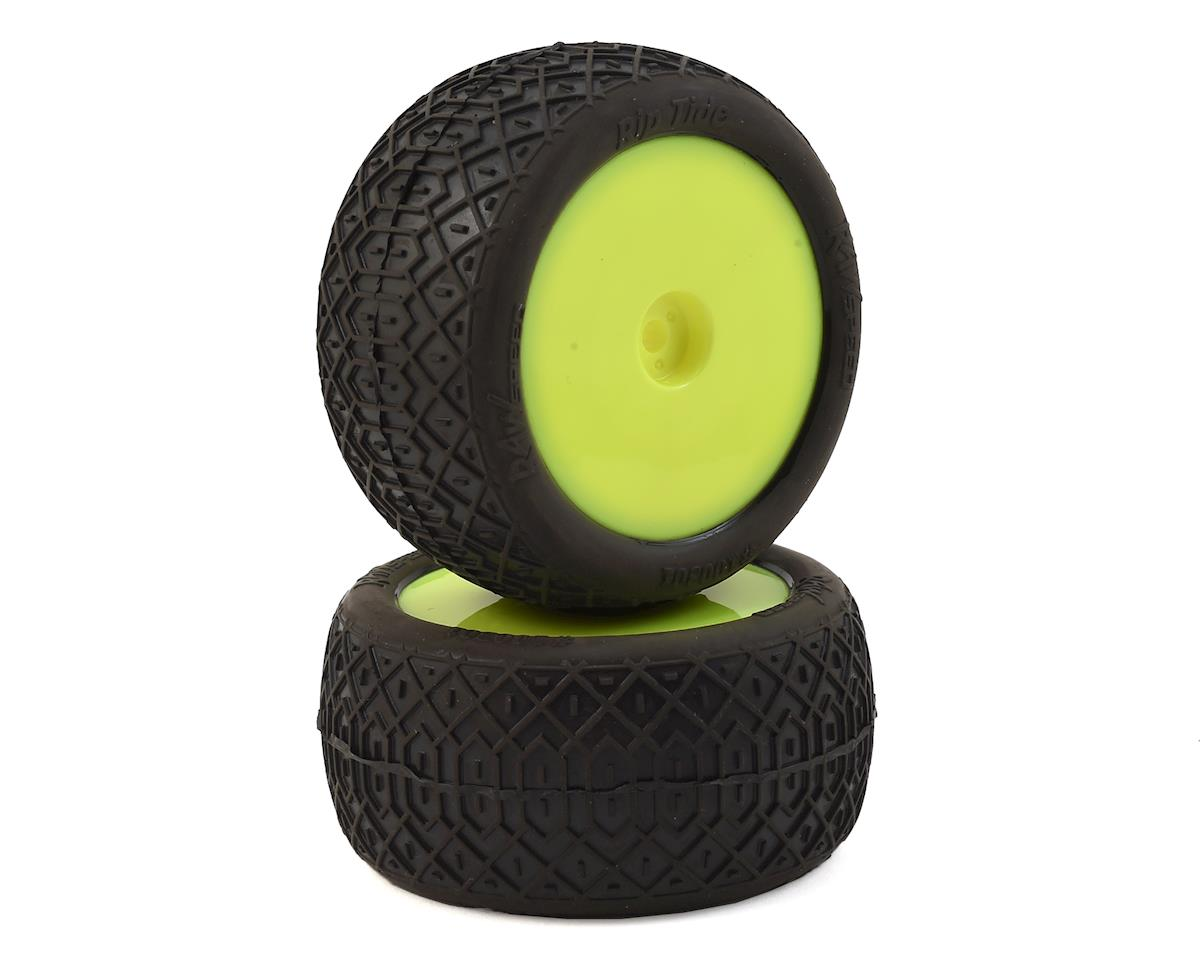 """Raw Speed RC """"Rip Tide"""" 2.2"""" 1/10 Rear Buggy Pre-Mounted Tire (2) (Yellow) (Super Soft)"""
