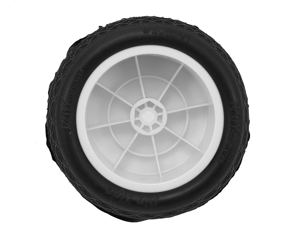 "Raw Speed RC Rip Tide 2.2"" 1/10 Rear Buggy Pre-Mounted Tire (2) (White) (Soft)"