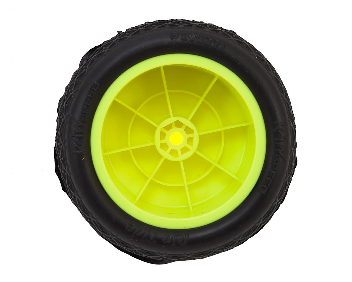 "Raw Speed RC ""Rip Tide"" 2.2"" 1/10 Rear Buggy Pre-Mounted Tire (2) (Yellow) (Soft)"