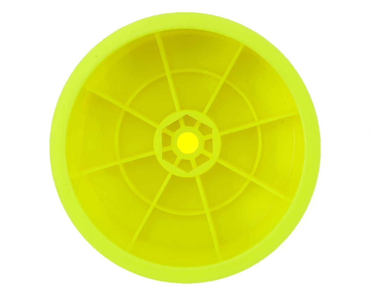 "Raw Speed RC 2.2"" 12mm Hex 1/10 Rear Buggy Wheels (Yellow) (2) (B6/22/RB6/ZX6)"