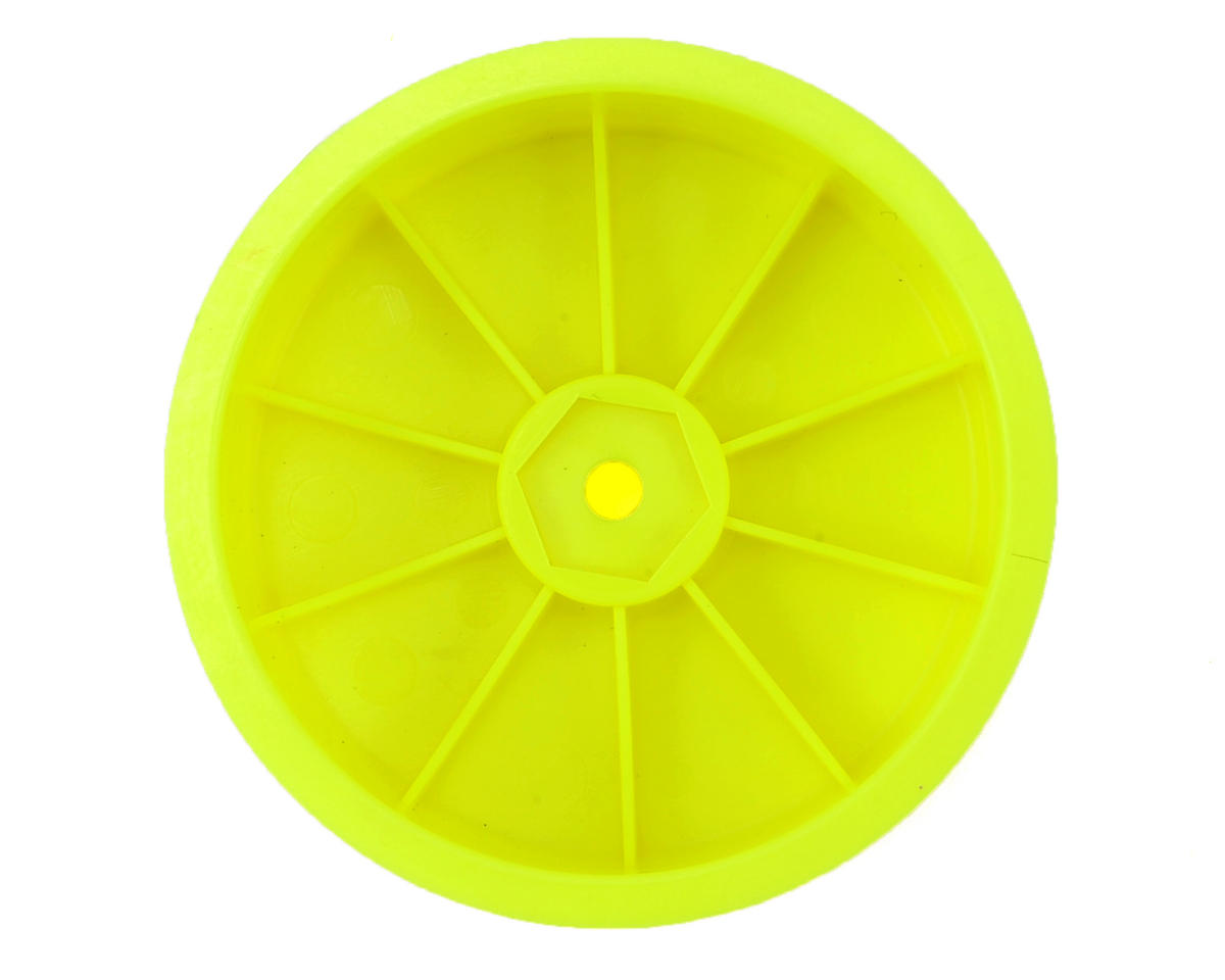 "Raw Speed RC 2.2"" 1/10 2WD Front Wheels (Yellow) (2) (B6/RB6)"